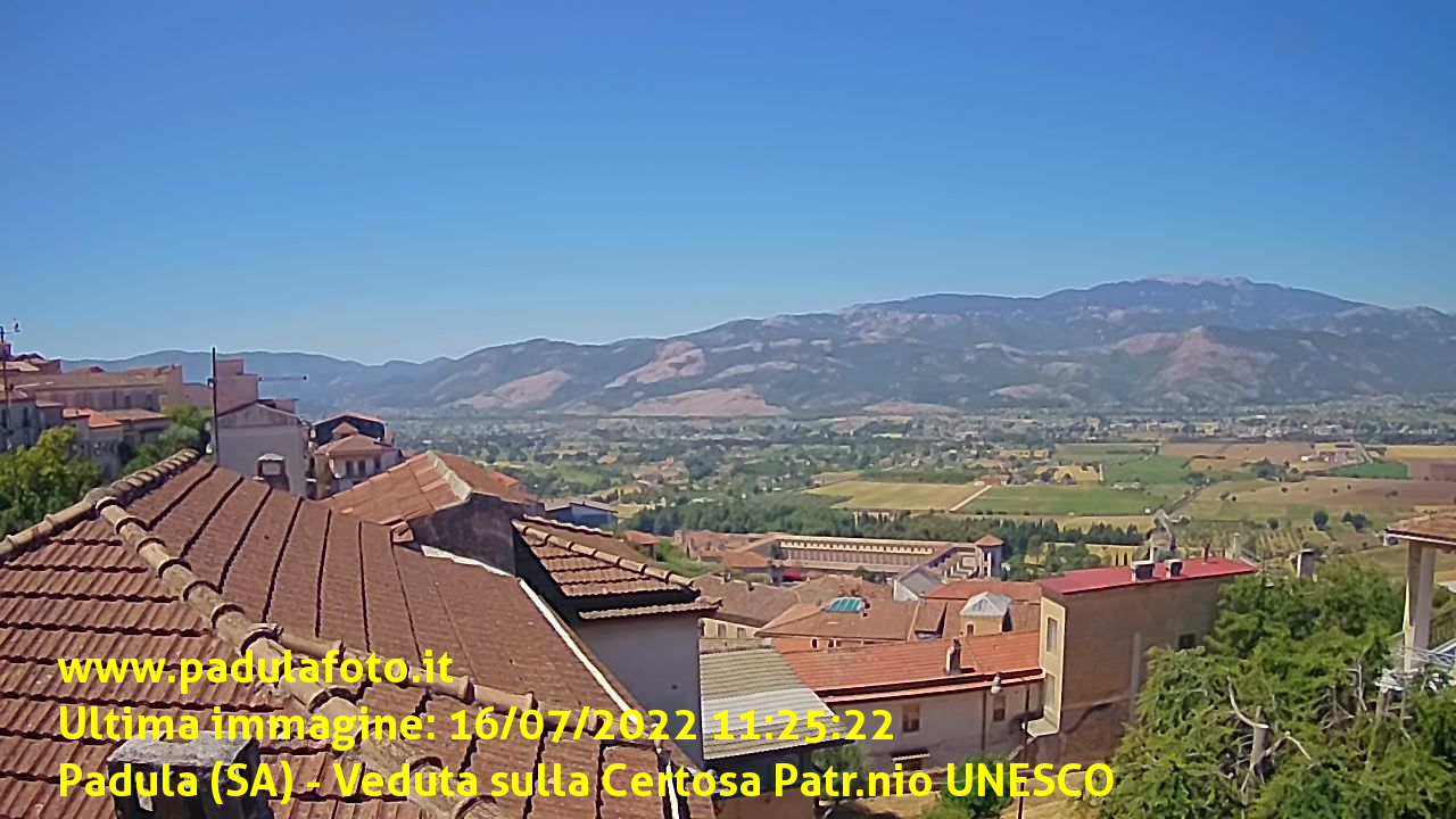 Webcam live su Certosa e Monte Cervati